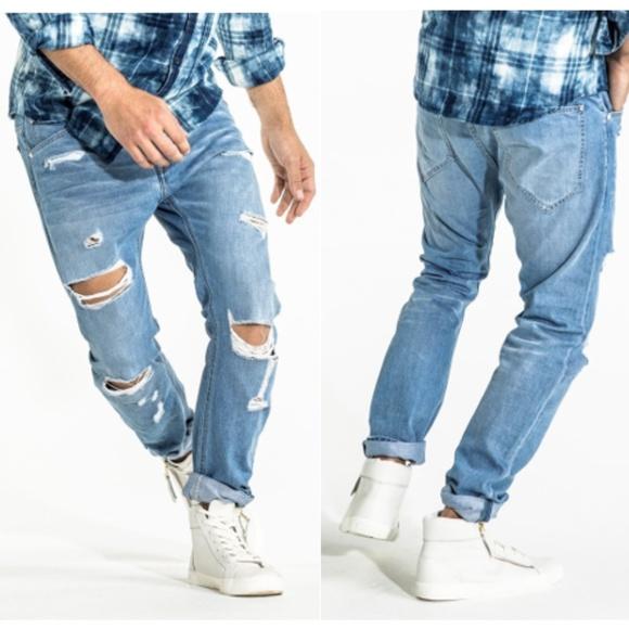 eff1d9ac67e CR7 Jeans | Cristiano Ronaldo Type T Distressed Denim Jean | Poshmark